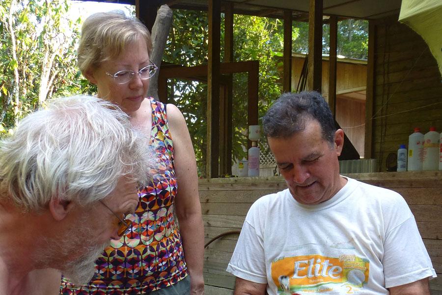 Juliane Diller and caretaker Moro (at right) in Panguana Photographs: Stefan Friedrich
