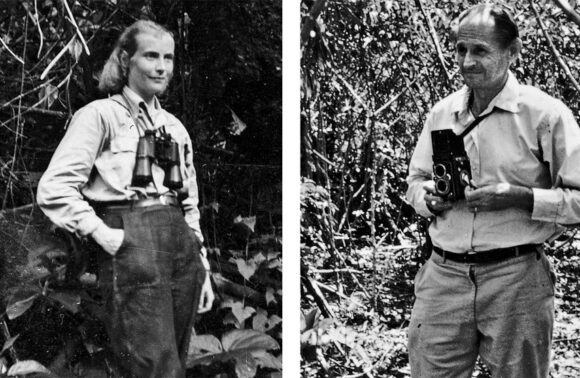 Dr. Maria and Prof. Dr. Hans-Wilhelm Koepcke, the founders of Panguana, in the rainforest
