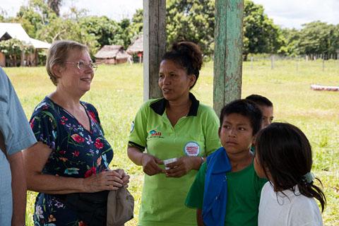 Frisches Wasser? Der Brunnen der Dorfgemeinde von Pampas Verde soll mit Panguanas Hilfe modernisiert werden