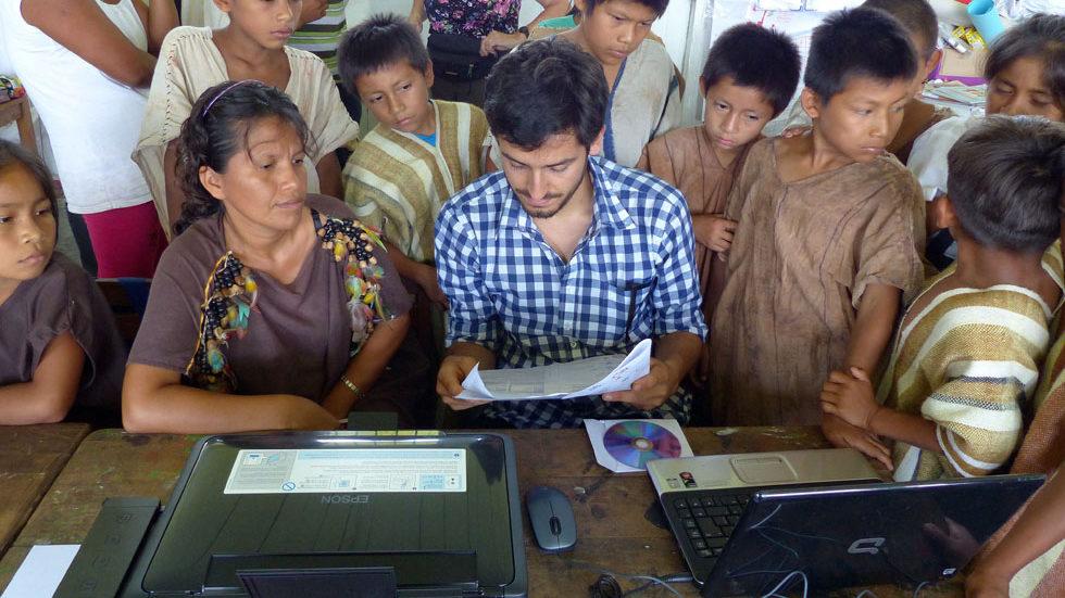 Tücken der Technik: Die Installation des von Panguana geschenkten Druckers