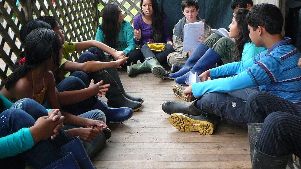 Gruppengespräch und Erarbeitung des Tagesprogrammes